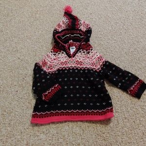 Girls pink and black sweater